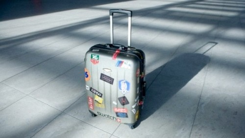 Luggage bag in airport --- Image by © Sung-Il Kim/Corbis
