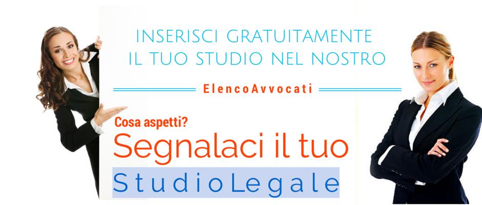 Segnala il tuo Studio Legale