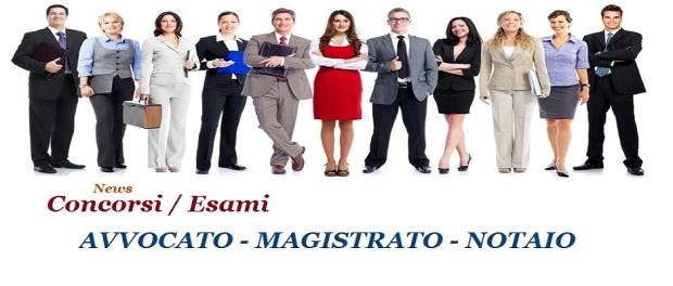 Esame-avvocato-concorso magistrato-esame notaio